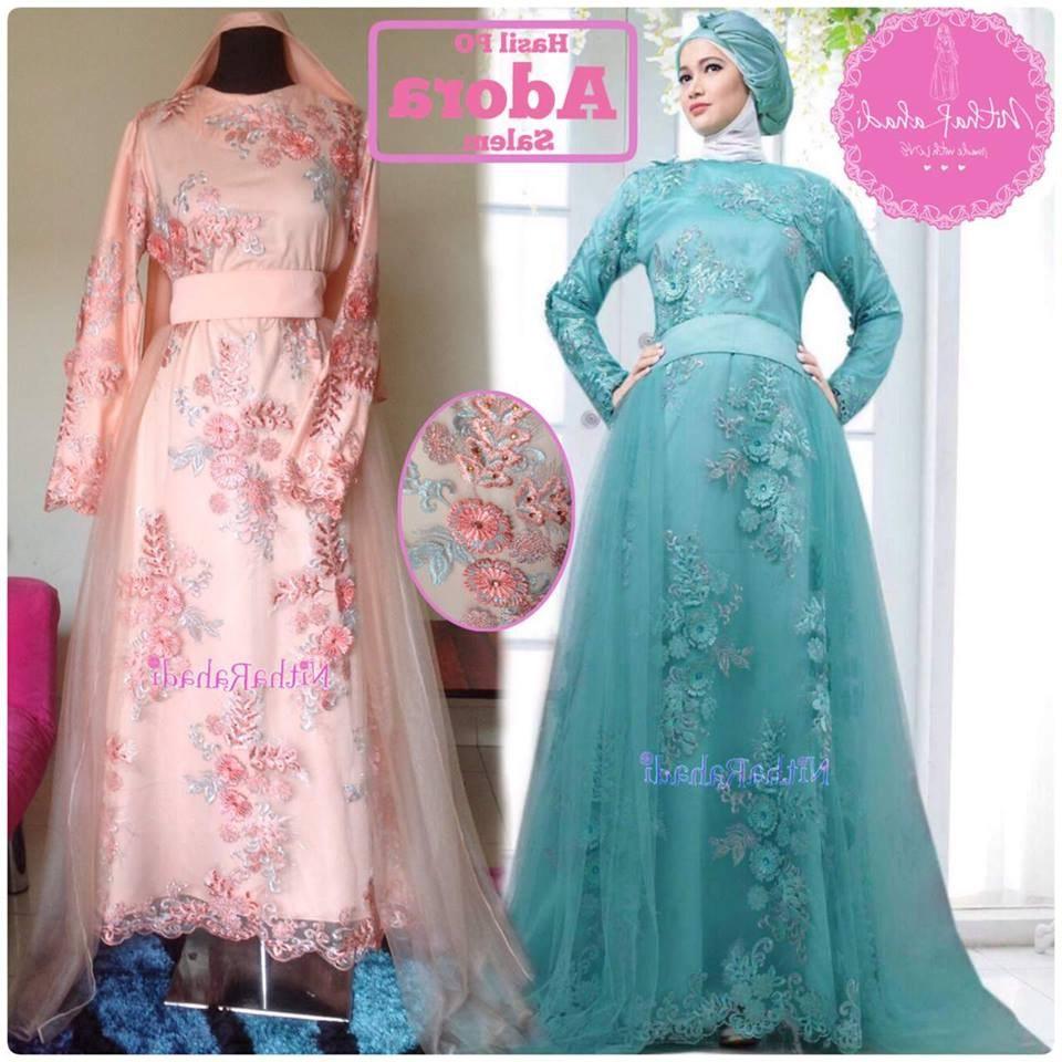 Bentuk Baju Gamis Pernikahan Irdz 30 Model Gamis Pengantin Brokat Fashion Modern Dan