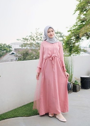 Bentuk Baju Gamis Untuk Acara Pernikahan Fmdf 30 Model Baju Gamis Pesta Pernikahan Modern Fashion