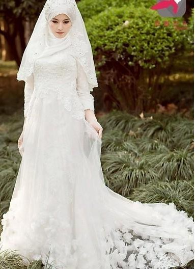 Bentuk Bridesmaid Dress Hijab 0gdr Discount 2015 New Elegant Hijab Wedding Dresses Long Sleeve