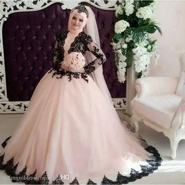 Bentuk Bridesmaid Dress Hijab J7do Muslim Wedding Gowns – Page 4 – Azongalbridal