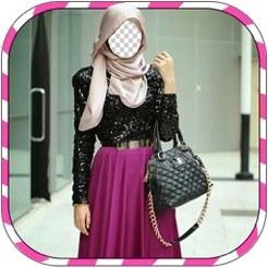 Bentuk Bridesmaid Dress Hijab Xtd6 Hijab Woman Montage Muslim Woman Wedding Dress Up On