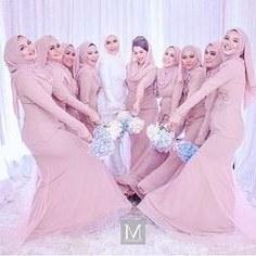 Bentuk Bridesmaid Hijab Pink 9ddf 143 Best Hijabi Bridesmaids Images In 2019
