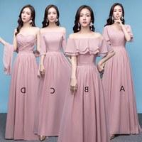 Bentuk Bridesmaid Hijab Pink Xtd6 Chiffon Country Long Bridesmaid Dresses Lace Up Wedding Guest Dresses Floor Length Bridesmaid Gowns Nude Pink Coral