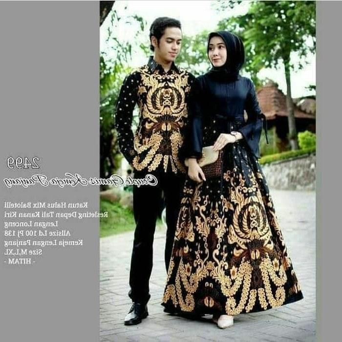 Bentuk Gamis Batik Seragam Pernikahan 87dx Jual Batik Couple Brokat Sarimbit Baju Batik Keluarga Gamis Modern Kota Medan Nyonatans