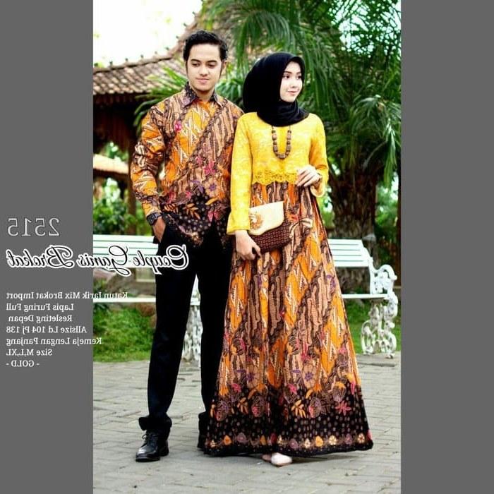 Bentuk Gamis Batik Seragam Pernikahan 87dx Model Baju Batik Pesta Pernikahan 2019