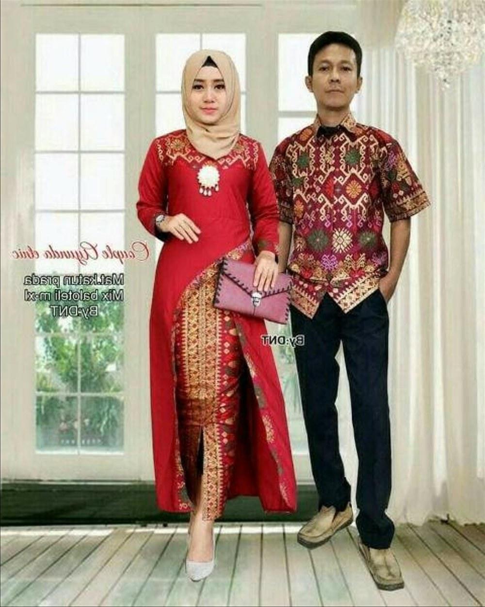 Bentuk Gamis Batik Seragam Pernikahan 8ydm top Baru 40 Baju Muslim Pesta Seragam Keluarga