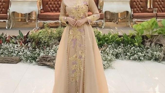 Bentuk Gamis Batik Seragam Pernikahan Budm √ 17 Model Baju Gamis Pesta 2020 Terbaru Untuk Lebaran