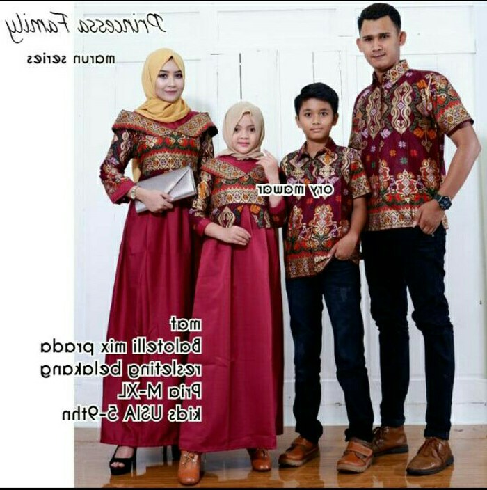 Bentuk Gamis Batik Seragam Pernikahan Dddy Baju Batik Couple Sarimbit Keluarga Gamis Pesta Baju Anak Cewek Saja