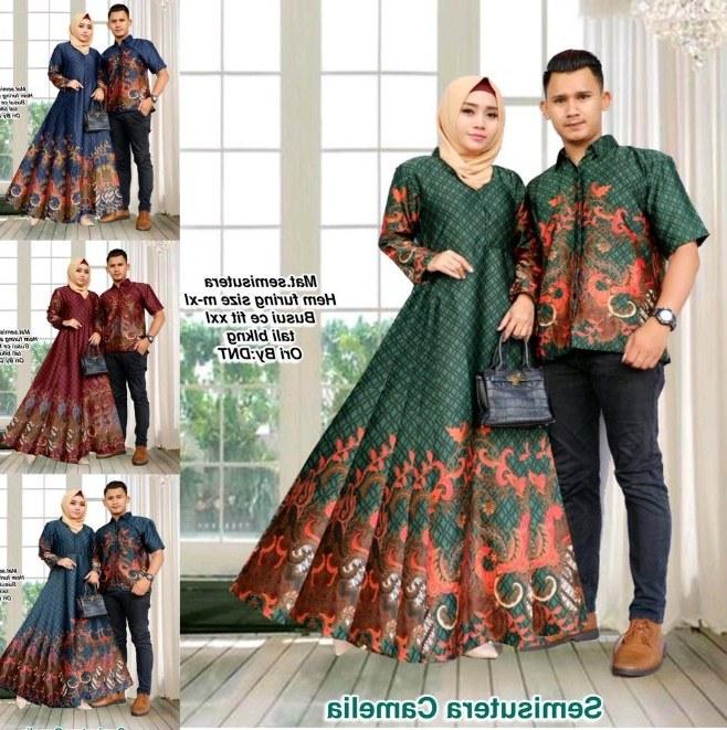 Bentuk Gamis Batik Seragam Pernikahan Gdd0 Baju Batik Couple Untuk Pesta Pernikahan Desain Model Baju