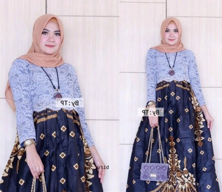 Bentuk Gamis Batik Seragam Pernikahan Y7du 27 Jubah Batik Kombinasi Model Baju Gamis Celana