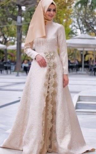 Bentuk Gamis Pernikahan Modern 4pde Model Baju Gamis Nikah