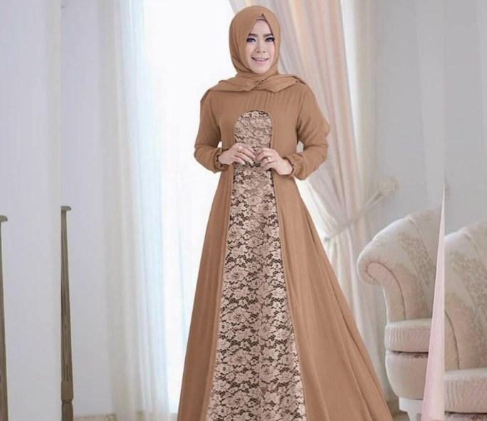 Bentuk Gamis Pernikahan Modern Dddy √ 45 Model Baju Gamis Pesta Pernikahan Feminim Elegan