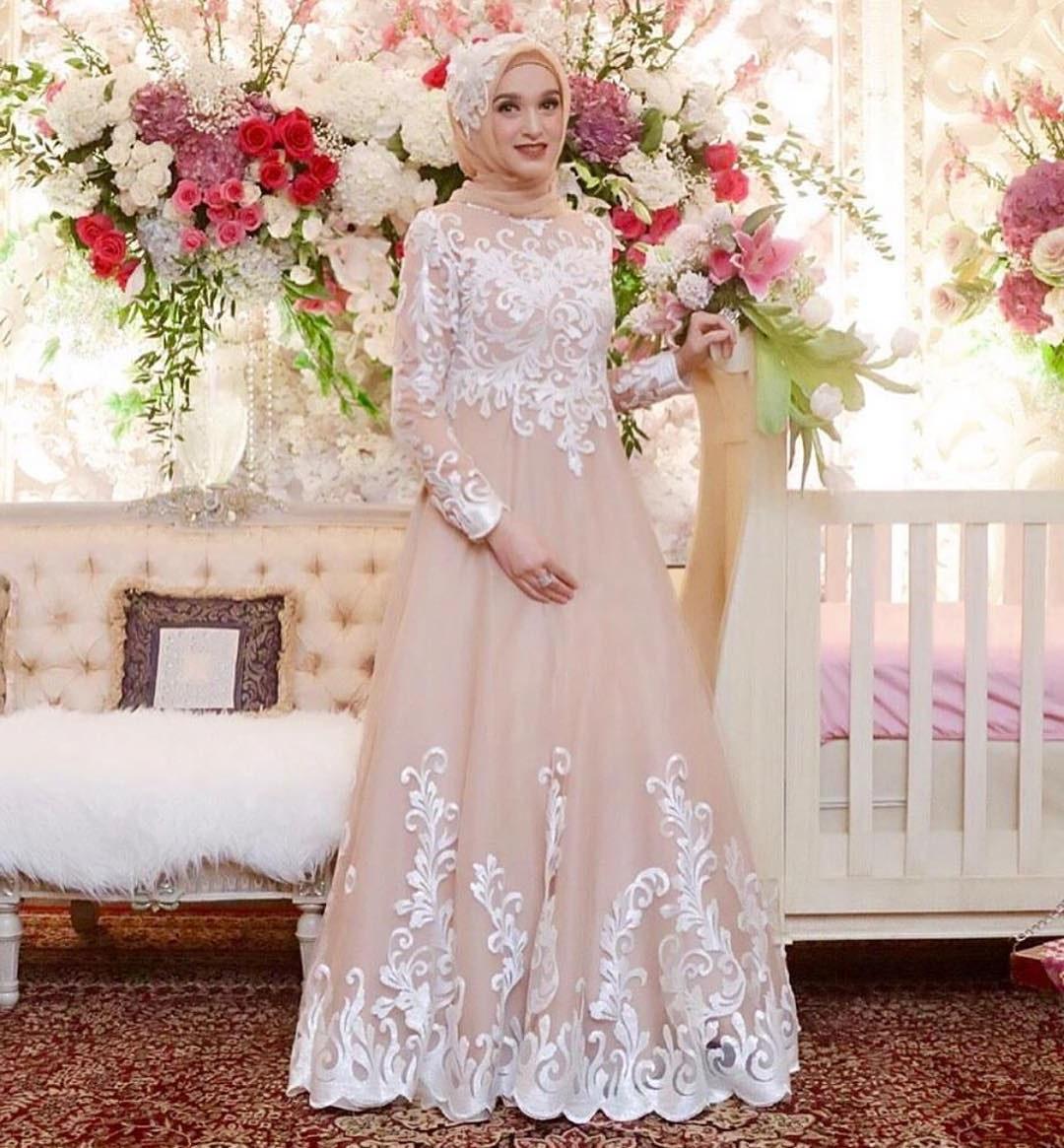 Bentuk Gamis Pernikahan Modern Jxdu Gamis Brokat Untuk Akad Nikah