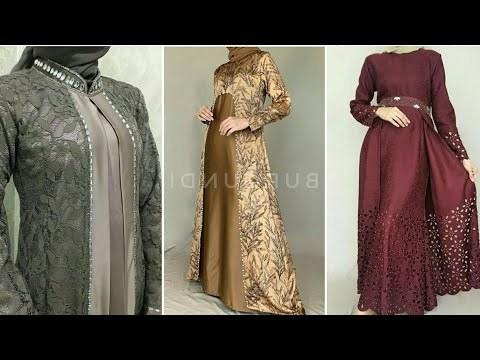 Bentuk Gamis Pernikahan Modern U3dh 15 Model Baju Gamis Dan Kebaya Brokat Modern Pesta Muslim