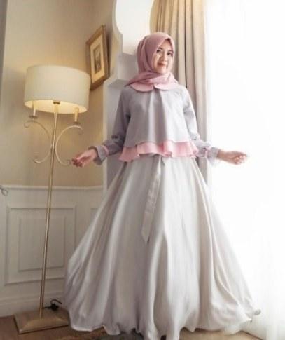 Bentuk Gamis Pernikahan Modern Wddj √ 45 Model Baju Gamis Pesta Pernikahan Feminim Elegan