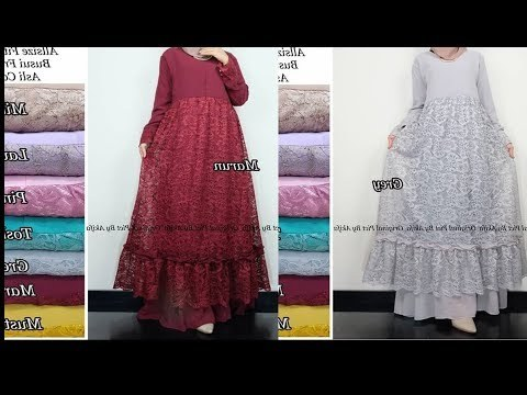 Bentuk Gamis Pernikahan Muslimah H9d9 Videos Matching Gamis Brokat Model Masakini Dan Paling Hits