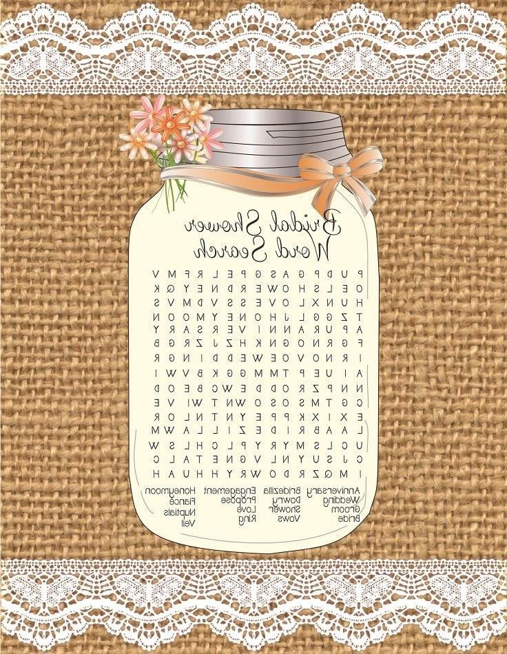Bentuk Gamis Pernikahan S5d8 Word Search Bridal Shower Game Wedding Shower Games