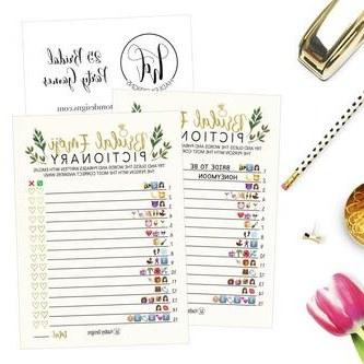 Bentuk Gamis Pernikahan Y7du Hadley Designs 25 Floral Emoji Pictionary Bridal Shower