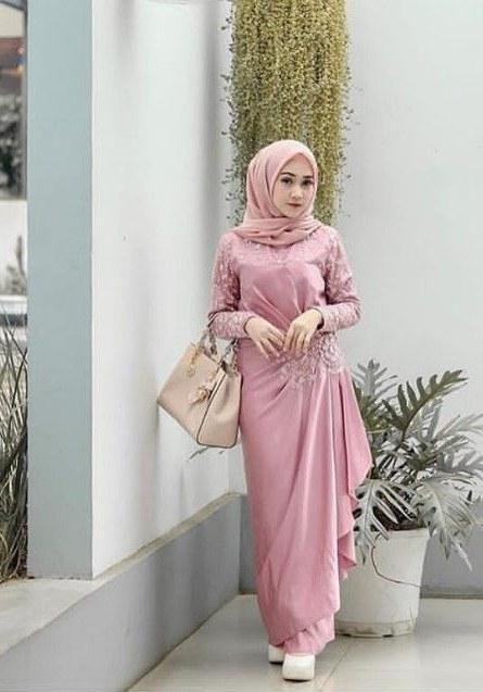 Bentuk Gamis Untuk Seragam Pernikahan 87dx List Of Gamis Pesta Batik Modern Images and Gamis Pesta