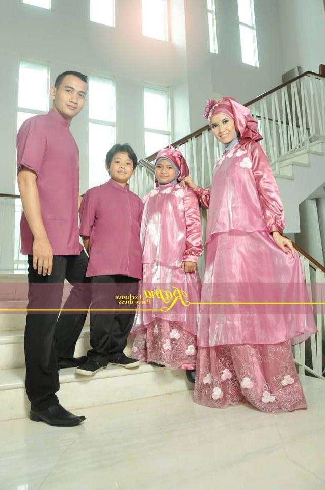 Bentuk Gamis Untuk Seragam Pernikahan Gdd0 Baju Muslim Keluarga 2016 Seragam Sarimbit