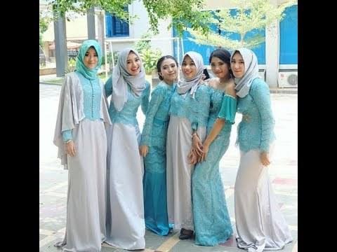 Bentuk Gamis Untuk Seragam Pernikahan Txdf Videos Matching Gaya Model Busana Brokat Cantik Beautiful