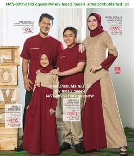 Bentuk Gamis Untuk Seragam Pernikahan Xtd6 Baju Muslim Keluarga 2016 Seragam Sarimbit