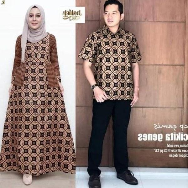 Bentuk Gamis Untuk Seragam Pernikahan Zwdg Baju Batik Couple Untuk Pesta Pernikahan