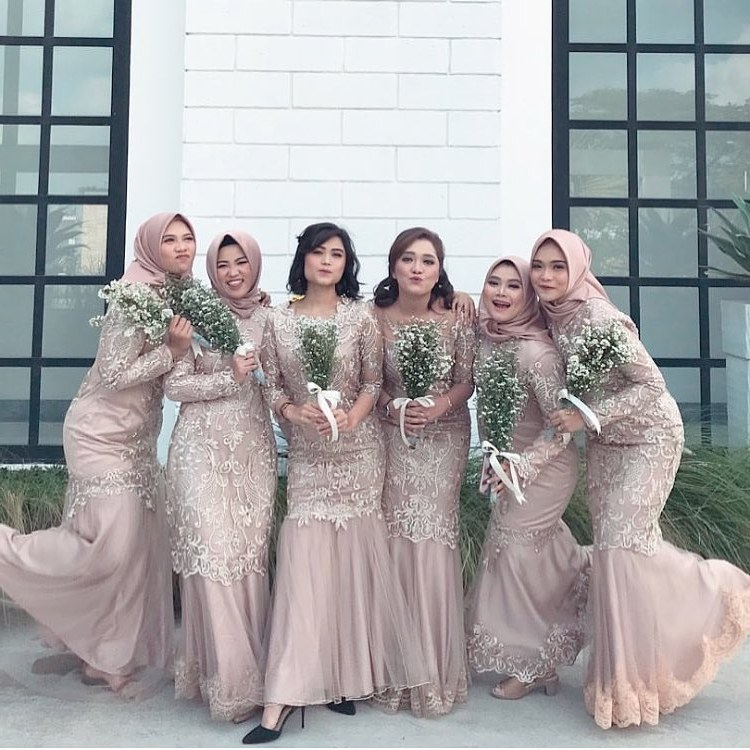 Bentuk Kebaya Bridesmaid Hijab J7do Bridesmaid Hijab Dress – Fashion Dresses