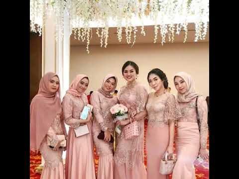 Bentuk Model Baju Bridesmaid Hijab Brokat 87dx Videos Matching Inspirasi Kekinian Gaun Kebaya Pesta Mermaid