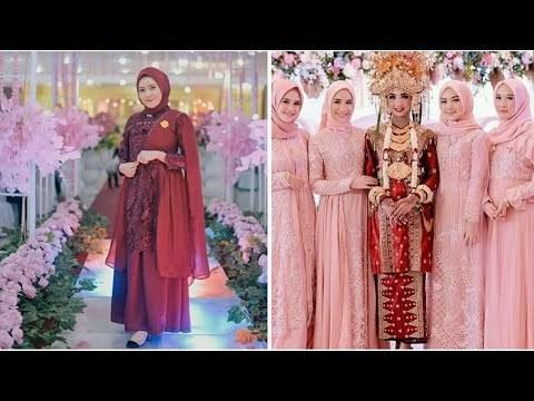 Bentuk Model Baju Bridesmaid Hijab Brokat Drdp Videos Matching Inspirasi Kekinian Gaun Kebaya Pesta Mermaid