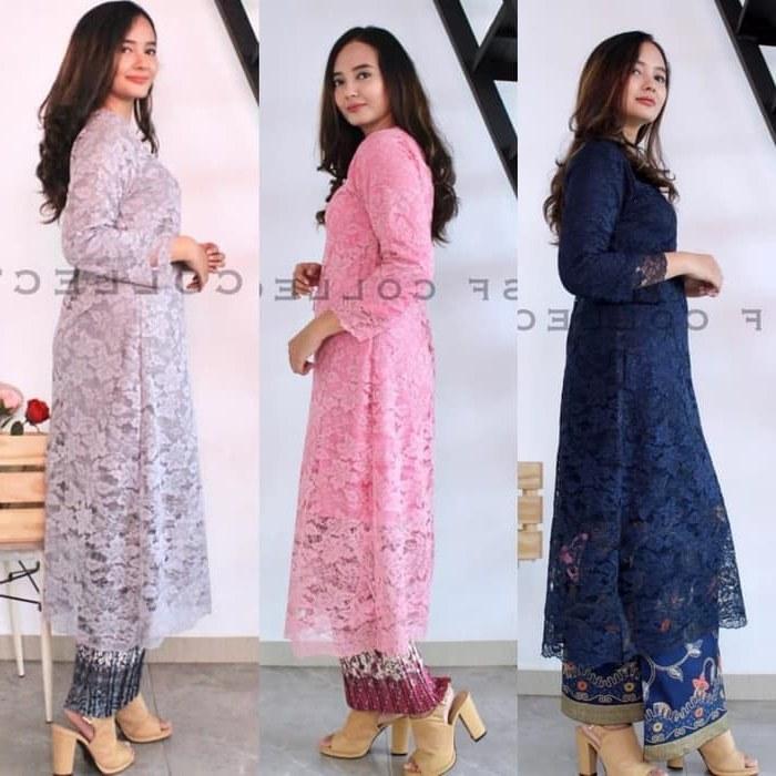 Bentuk Model Baju Bridesmaid Hijab Brokat Ftd8 Jual Setelan Baju Brokat Tunik Kurung Kebaya Tunik 3 Warna Navy Pink Grey Dki Jakarta Kebayabutik21