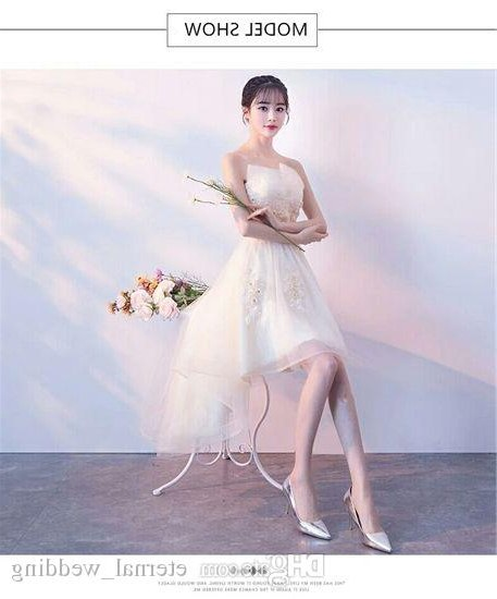 Bentuk Model Baju Bridesmaid Hijab Brokat J7do south Korea Wedding Dress