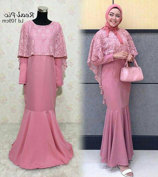 Bentuk Model Baju Bridesmaid Hijab Brokat Rldj 30 Model Baju Gamis Duyung Kekinian Fashion Modern Dan