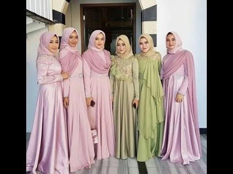 Bentuk Model Baju Bridesmaid Hijab Brokat S1du Videos Matching Inspirasi Kekinian Gaun Kebaya Pesta Mermaid