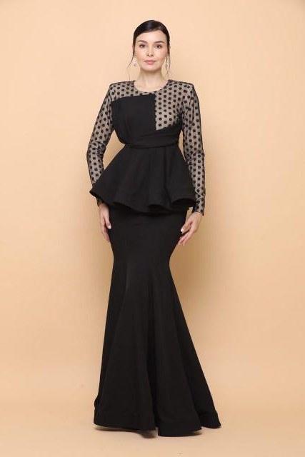 Bentuk Model Baju Bridesmaid Hijab Brokat Tqd3 Emily Peplum by Myrra Karim Exclusive Women S Fashion