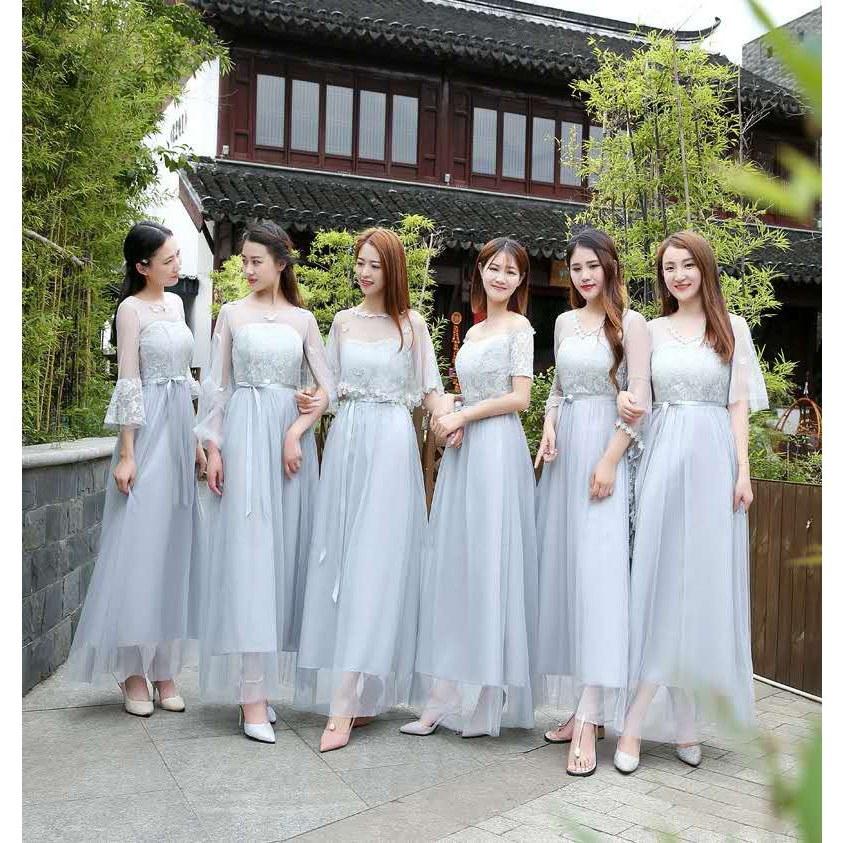 Bentuk Model Baju Bridesmaid Hijab Brokat Zwdg Dress Model Slim Untuk Pesta Malam Hari