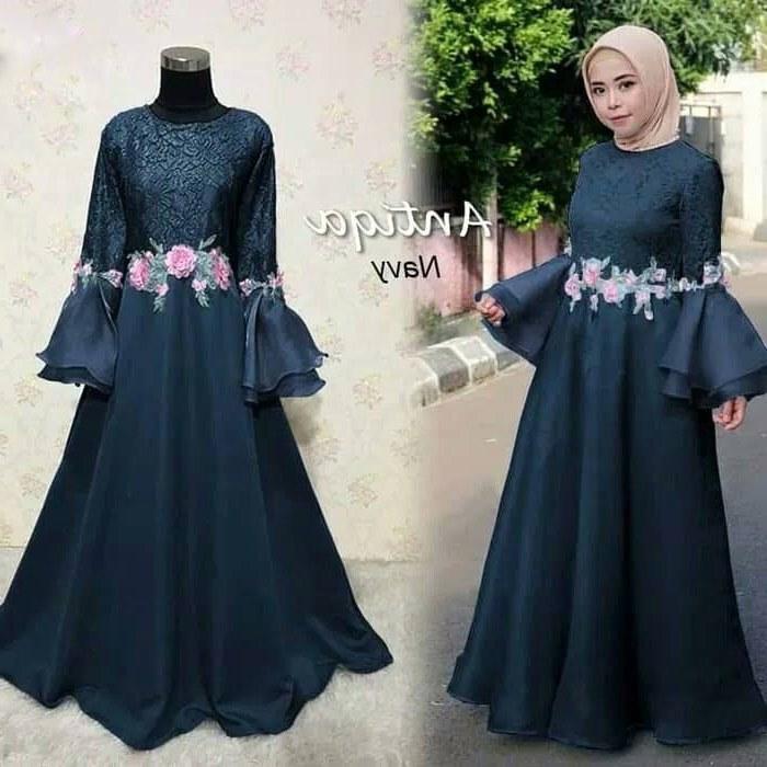 40 Design Model Baju Gamis Untuk Pesta Pernikahan - Ragam ...