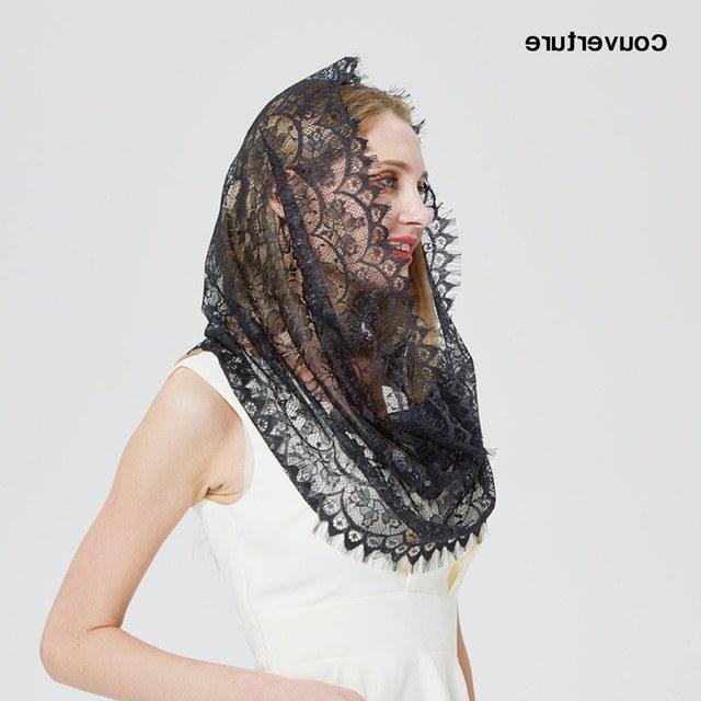 Bentuk Model Bridesmaid Hijab Jxdu Us $7 68 Off Aliexpress Buy Design Women soft Black White Lace Scarf Rings La S Shawls Foulard Femme Headband Wedding Hijab Church Scarves