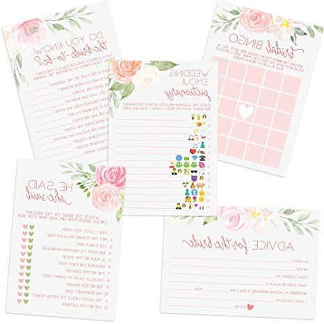 Bentuk Model Gamis Pernikahan Ftd8 Floral Bridal Shower Games Set Of 5 Games 50 Sheets Each Bridal Shower Games and Wedding Anniversary Activities Includes Marriage Advice Cards and