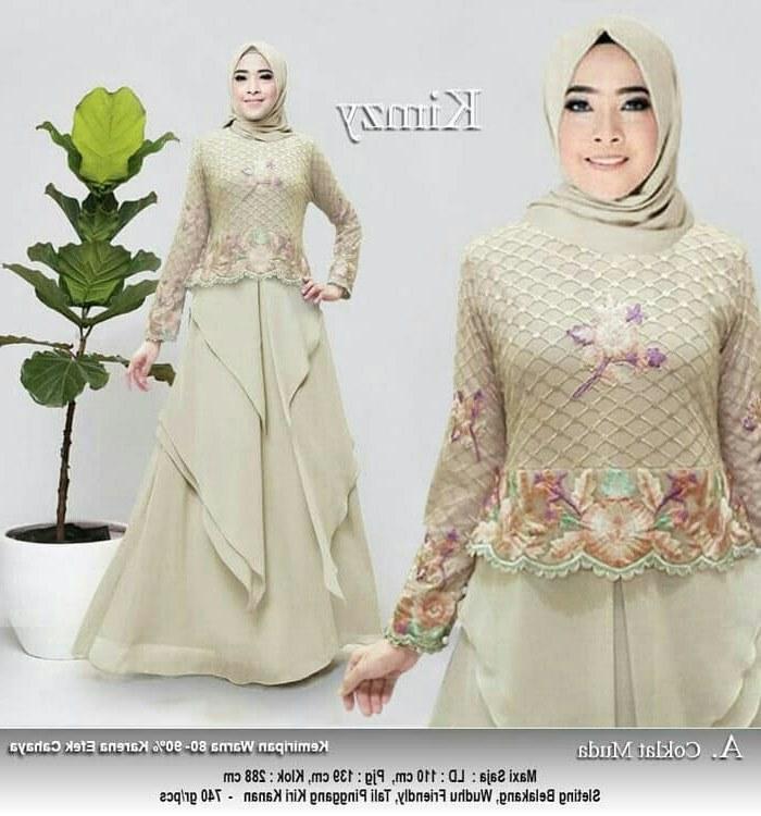 Bentuk Model Gamis Untuk Resepsi Pernikahan 9fdy Model Gamis Pesta Remaja Modern Ceruti Bordir Kimzy Coklat