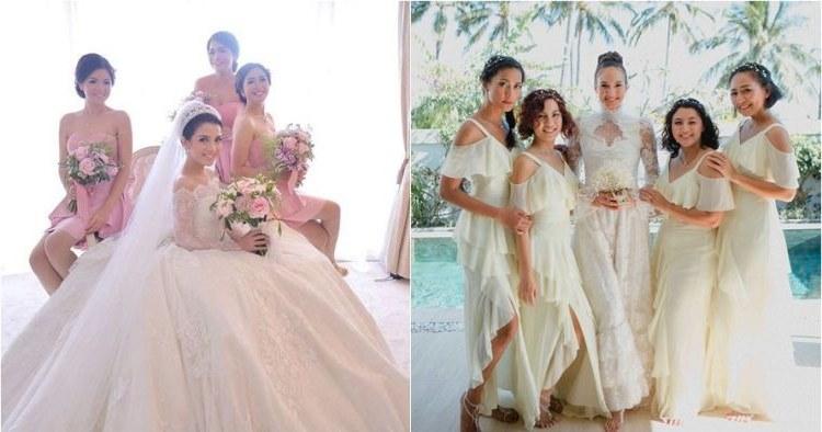 Bentuk Model Gamis Untuk Resepsi Pernikahan E6d5 25 Inspirasi Gaun Bridesmaid Di Pernikahan Seleb Bisa Kamu Tiru