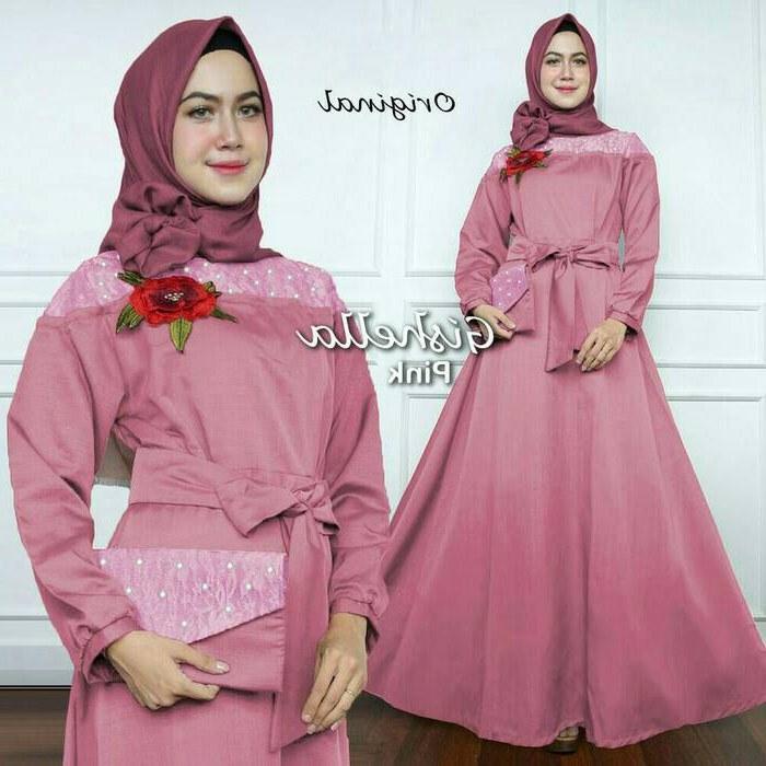 Design Baju Gamis Untuk Pesta Pernikahan E6d5 Gamis Pesta Kombinasi Mutiara Modern Gishella Jual Gamis