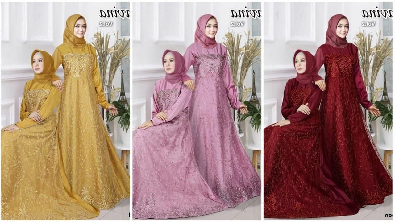 Design Baju Gamis Untuk Pesta Pernikahan S1du Model Baju Gamis Pesta Pernikahan 2020 Ravina
