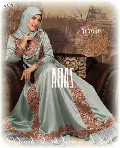 Design Baju Gamis Untuk Pesta Pernikahan Wddj Busana Muslim Zara Grey Konveksi Seragam Gamis Syar I
