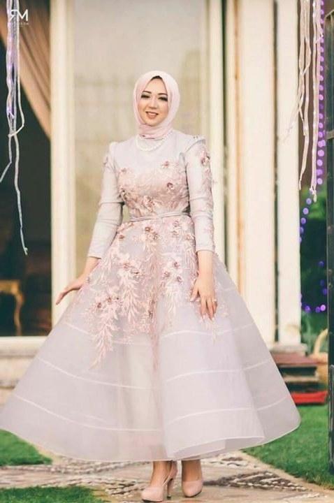 Design Bridesmaid Dresses Hijab S5d8 Gaun Kembang Hejab Style