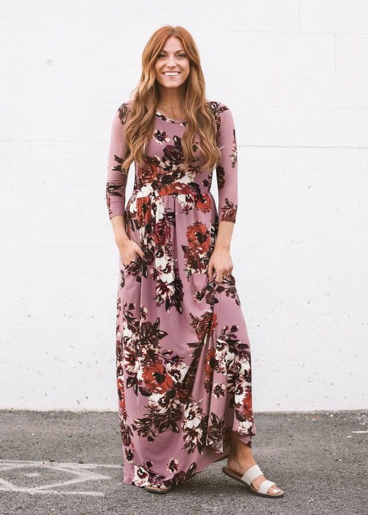 Design Bridesmaid Hijab Dress 9fdy Classic Rose Maxi Dress