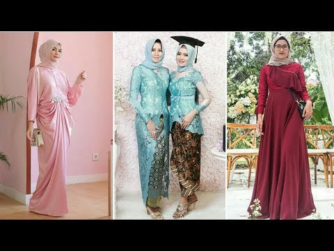 Design Model Baju Gamis Pesta Pernikahan E9dx Videos Matching Inspirasi Kekinian Gaun Kebaya Pesta Mermaid