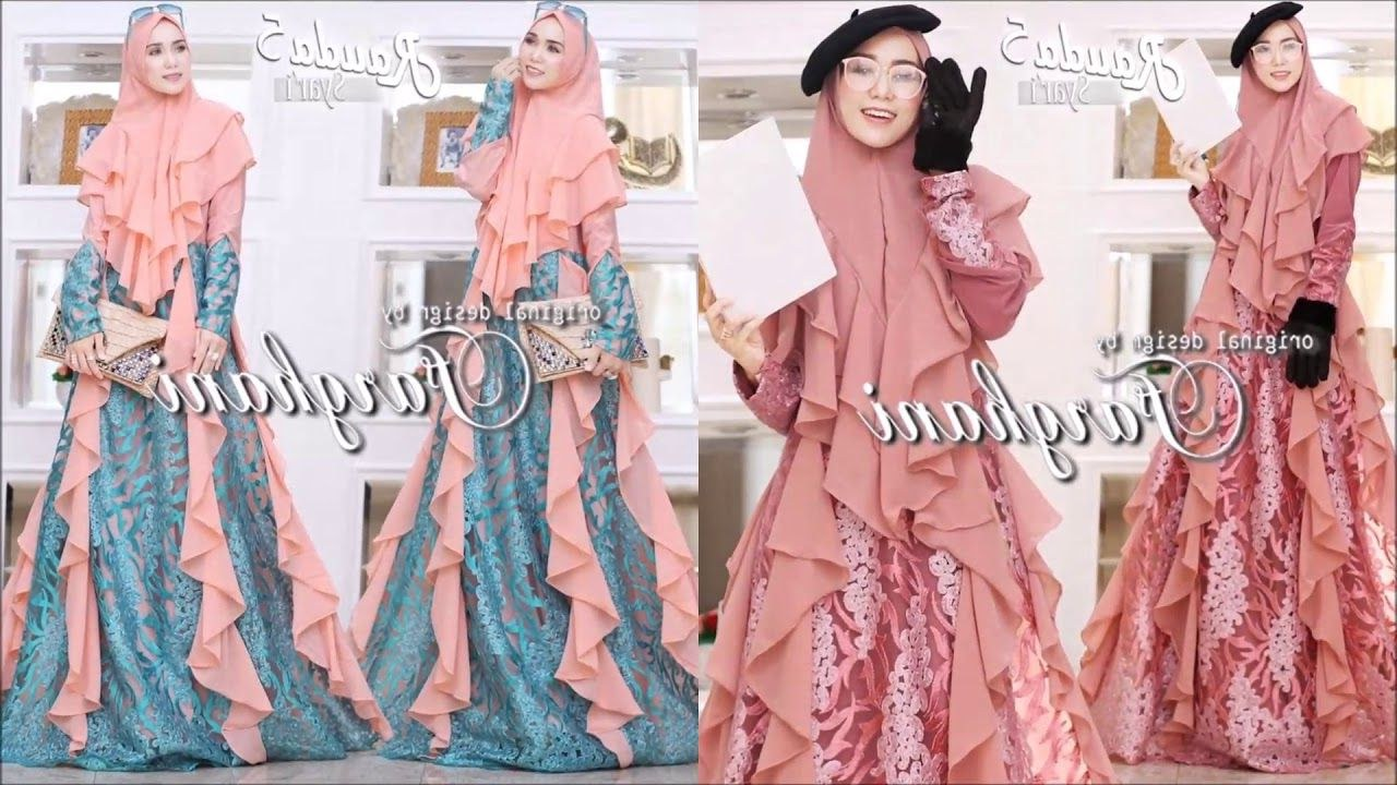 Design Model Baju Gamis Pesta Pernikahan Ftd8 Baju Gamis Syari 2019 Sekarang Populer Yang Bisa Dijadikan