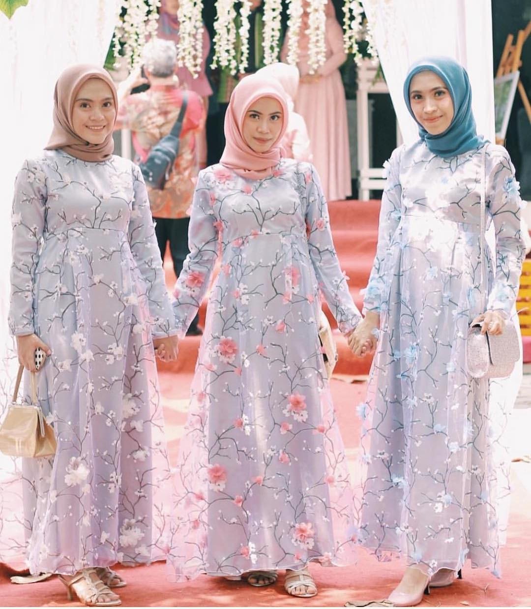 Design Model Baju Gamis Pesta Pernikahan X8d1 Baju Gamis Kebaya 2019 Baju Kebaya Bagus