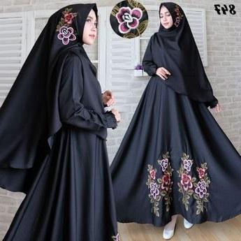 Design Model Gamis Untuk Pernikahan Q5df Model Baju Gamsi Syari Terbaru Motif Bunga Cantik Dan Moder